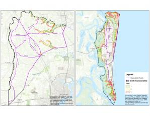 Using data from National Oceanic and Atmospheric Administration, this map identifies those areas that are anticipated to be inundated by sea-level rise of 1, 3 and 6 feet. Areas close to the St. Marys River and the Intracoastal Waterway would the most impacted. As with storm surge, large portions of Amelia Island are impacted by the minimum 1-foot sea-level rise scenario predicted to occur by 2050, if not sooner. NASSAU COUNTY PLANNING & ECONOMIC OPPORTUNITY