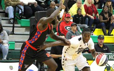 The Nassau Pride will be back in action in Yulee Saturday night. Tip-off is at 6 p.m. BETH JONES/NEWS-LEADER