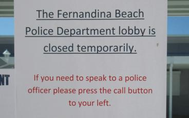 The lobby at the Fernandina Beach Police Department has closed to help limit the potential spread of coronavirus, according to Chief Jim Hurley. JULIA ROBERTS/NEWS-LEADER