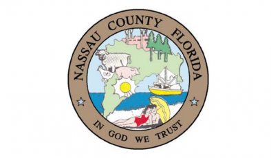 The official seal of Nassau County.
