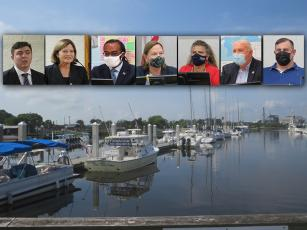 Candidates for the Fernandina Beach City Commission had varying views on managing debt incurred by the city-owned marina. JULIA ROBERTS/NEWS-LEADER