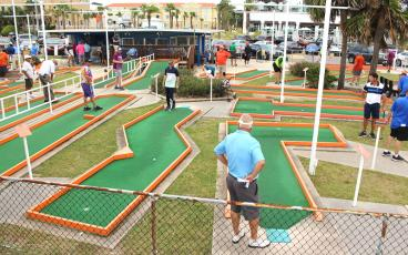 Professional putters competed Thursday at Putt-Putt at Main Beach. The 61st annual Professional Putters Association national championship concludes today. BETH JONES/NEWS-LEADER