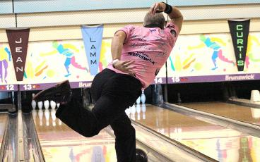 Walter Ray Williams Jr. in action Sunday at the Yulee Bowling Center. BETH JONES/NEWS-LEADER