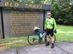 Paul James biked the 442-mile-long Natchez Trace Parkway in eight days in 2020. The trip takes cyclists from Natchez, Miss., to Franklin, Tenn.