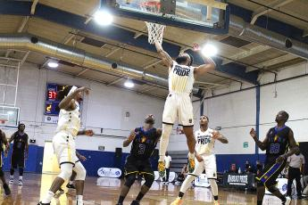 The Nassau Pride defeated the St. Augustine Glory Saturday night at Peck Gym in Fernandina Beach. The Pride takes on the Jacksonville Giants today at Christ the King Catholic School in Jacksonville.