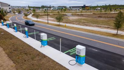 Florida Power & Light has installed electric vehicle charging port locations in three new areas, including in the Wildlight development in Yulee.