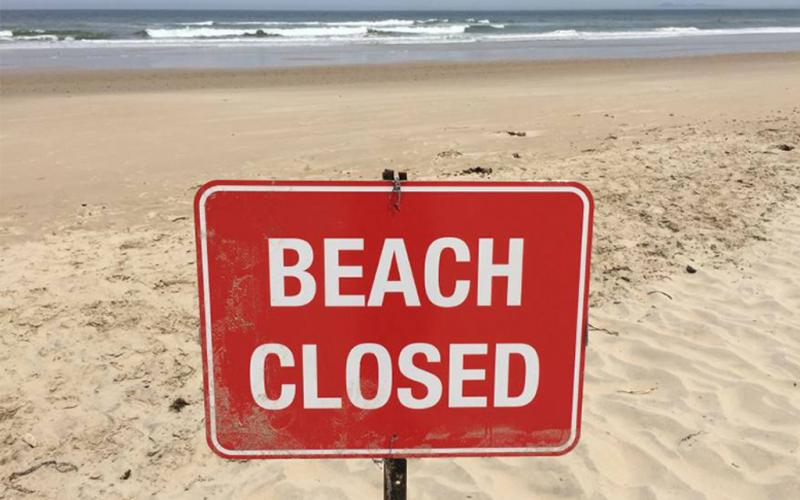All public beaches on Amelia Island have been closed by order of the city of Fernandina Beach and Nassau County. COURTESY OF MIKE LEDNOVICH/SPECIAL