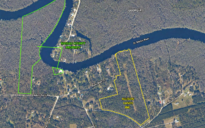The Nassau County Board of County Commissioners voted to cancel a sales contract for a 35-acre tract of land adjacent to the St. Marys River in Hilliard that it had targeted for a new park. NASSAU COUNTY