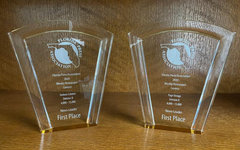 The News-Leader's two first place awards.