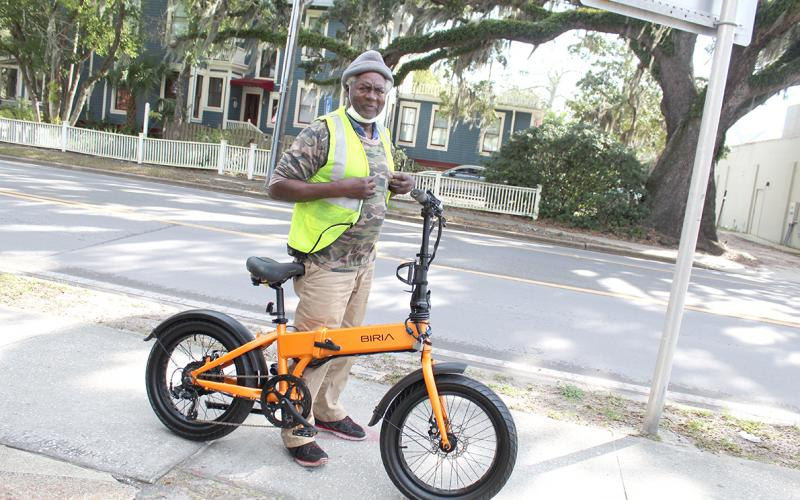 Melvin Cooper of Fernandina Beach can continue to ride his electric bike on Egans Creek Greenway, as well as city beaches, after the City Commission voted to allow the vehicles there. Commissioners did approve a 10 mph speed limit on the bikes in all areas of the city.