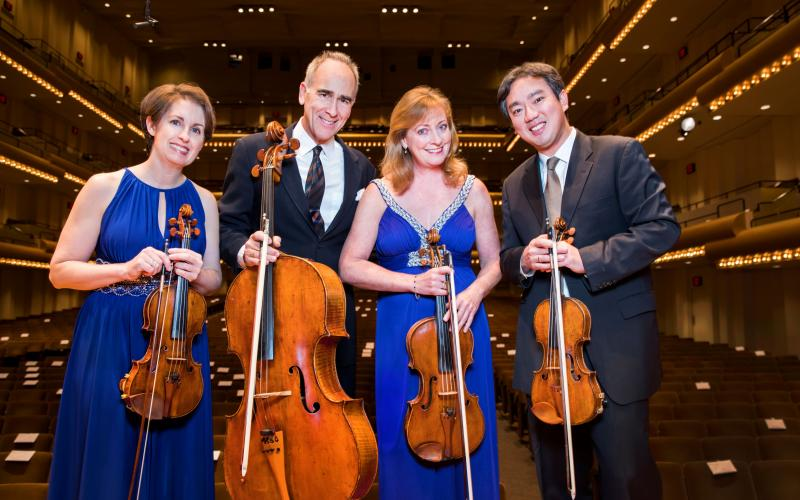The New York Philharmonic String Quartet will perform with pianist Drew Petersen on Sunday at The Ritz-Carlton, Amelia Island. The show is available online at AICMF.com.